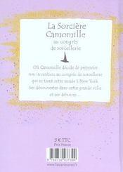 La Sorciere Camomille Au Congres De Sorcellerie - 4ème de couverture - Format classique