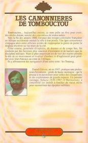 Les Canonnieres De Tombouctou - 4ème de couverture - Format classique