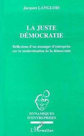 La Juste Democratie - Intérieur - Format classique