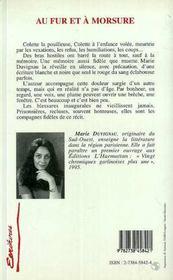 Au Fur Et A Morsure - 4ème de couverture - Format classique