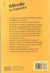 Mimile de l'aqueduc - 4ème de couverture - Format classique
