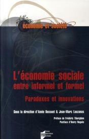 L'économie sociale entre informel et formel ; paradoxes et innovations - Intérieur - Format classique