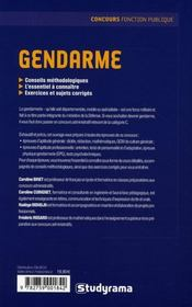 Gendarme - 4ème de couverture - Format classique