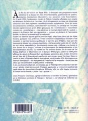 Premiers Combats Pour La Langue Occitane Manifestes Linguistiques Occitans Xvie-Xviie Siecle - 4ème de couverture - Format classique
