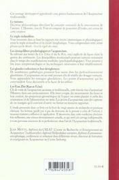 Chemins Caches De L'Acupuncture Traditionnelle Chinoise (Les) - 4ème de couverture - Format classique