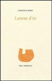 Lettres d'or - Couverture - Format classique