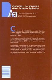 Productions laitieres t.2conduite technique et economique d - 4ème de couverture - Format classique