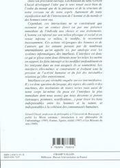 Interfaces ; enquêtes sur les mondes intermédiaires - 4ème de couverture - Format classique