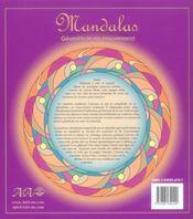Mandalas ; géométrie en mouvement - 4ème de couverture - Format classique