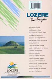 **La Lozere - 4ème de couverture - Format classique