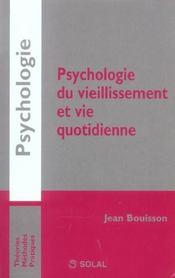 Psychologie du vieillissement et vie quotidienne - Intérieur - Format classique