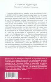 Psychologie du vieillissement et vie quotidienne - 4ème de couverture - Format classique