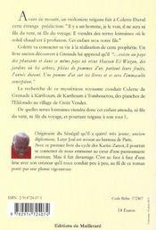Sitor Des Terres Lointaines - 4ème de couverture - Format classique