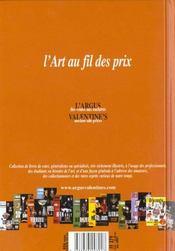 Argus valentine s verrerie - 4ème de couverture - Format classique