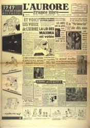 Aurore France Libre (L') N°1338 du 01/01/1949 - Couverture - Format classique