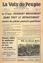 Voix Du Peuple De Touraine (La) N°1347 du 21/05/1967 - Couverture - Format classique