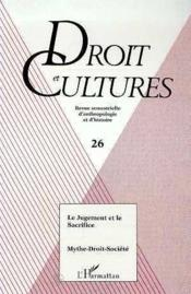 Jugement Et Le Sacrifice Mythe-Droit-Societe - Couverture - Format classique