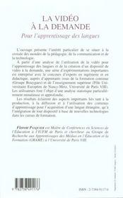 La Video A La Demande ; Pour L'Apprentissage Des Langues - 4ème de couverture - Format classique