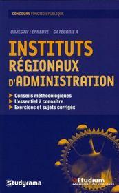 Instituts regionaux d'administration - Intérieur - Format classique