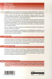 Cliniques de la création - 4ème de couverture - Format classique