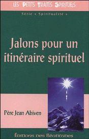 Jalons pour un itinéraire spirituel - Couverture - Format classique