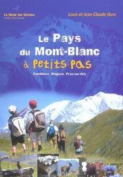 Le Pays Du Mont-Blanc A Petits Pas - Intérieur - Format classique