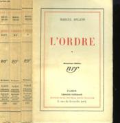 L'Ordre. En 3 Tomes. - Couverture - Format classique