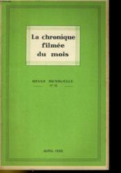 La Chronique Filmee Du Mois N°15 - Couverture - Format classique