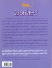 Qui Est Illetre ? Decrire Et Evaluer Les Difficul Tes A Se Servir De L'Ecrit - 4ème de couverture - Format classique