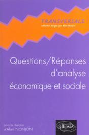 Questions/Reponses D'Analyse Economique Et Sociale - Couverture - Format classique