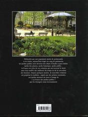 France Des Jardins Publics - 4ème de couverture - Format classique