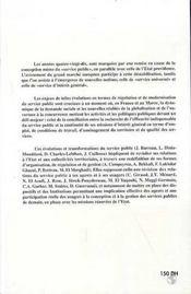 Le devenir du service public ; comparaison France-Maroc - 4ème de couverture - Format classique
