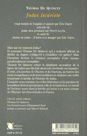 Judas Iscariote - 4ème de couverture - Format classique