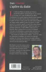 L'Apotre Du Diable - 4ème de couverture - Format classique