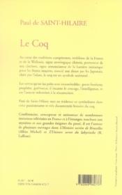 Le Coq - 4ème de couverture - Format classique