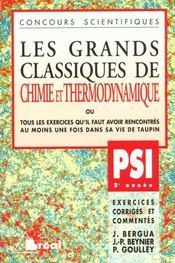 Grands classiques chimie/thermo psi - Intérieur - Format classique