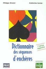 Dictionnaire des séquences d'enchères - Intérieur - Format classique