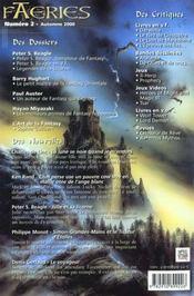 Faeries 2 Special Peter Beagle - 4ème de couverture - Format classique