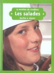 15 recettes de Geoffroy ; les salades - Intérieur - Format classique