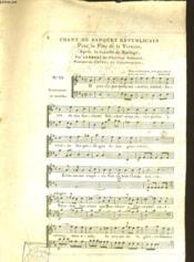 Chant Du Banquet Republicain - Couverture - Format classique