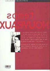 Temps Nouveaux - 4ème de couverture - Format classique