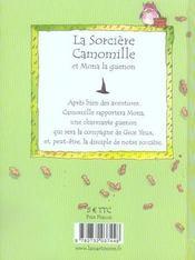 La Sorciere Camomille Et Mona La Guenon - 4ème de couverture - Format classique