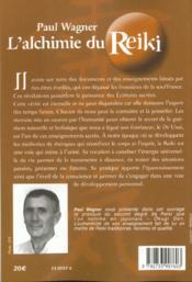 Alchimie Du Reiki - 4ème de couverture - Format classique