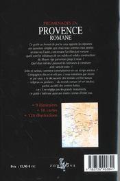 Promenades En Provence Romane - 4ème de couverture - Format classique