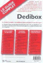 Dedibox guide complet - 4ème de couverture - Format classique
