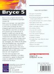 Studio Graphique ; Bryce 5 - 4ème de couverture - Format classique