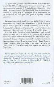 Les Vestiges Du Pire - 4ème de couverture - Format classique