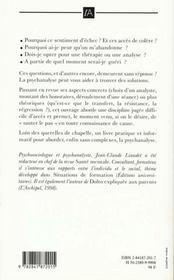 La Psychanalyse Sans Complexes - 4ème de couverture - Format classique