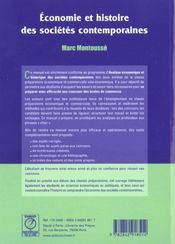 Economie et hist. societes contemp. - 4ème de couverture - Format classique