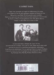 L'esprit Dada - 4ème de couverture - Format classique